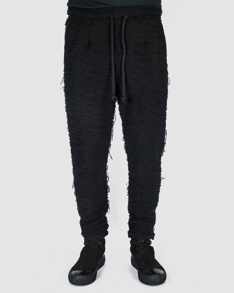 Xagon - Threaded drawstring pants - https://stilett.com/