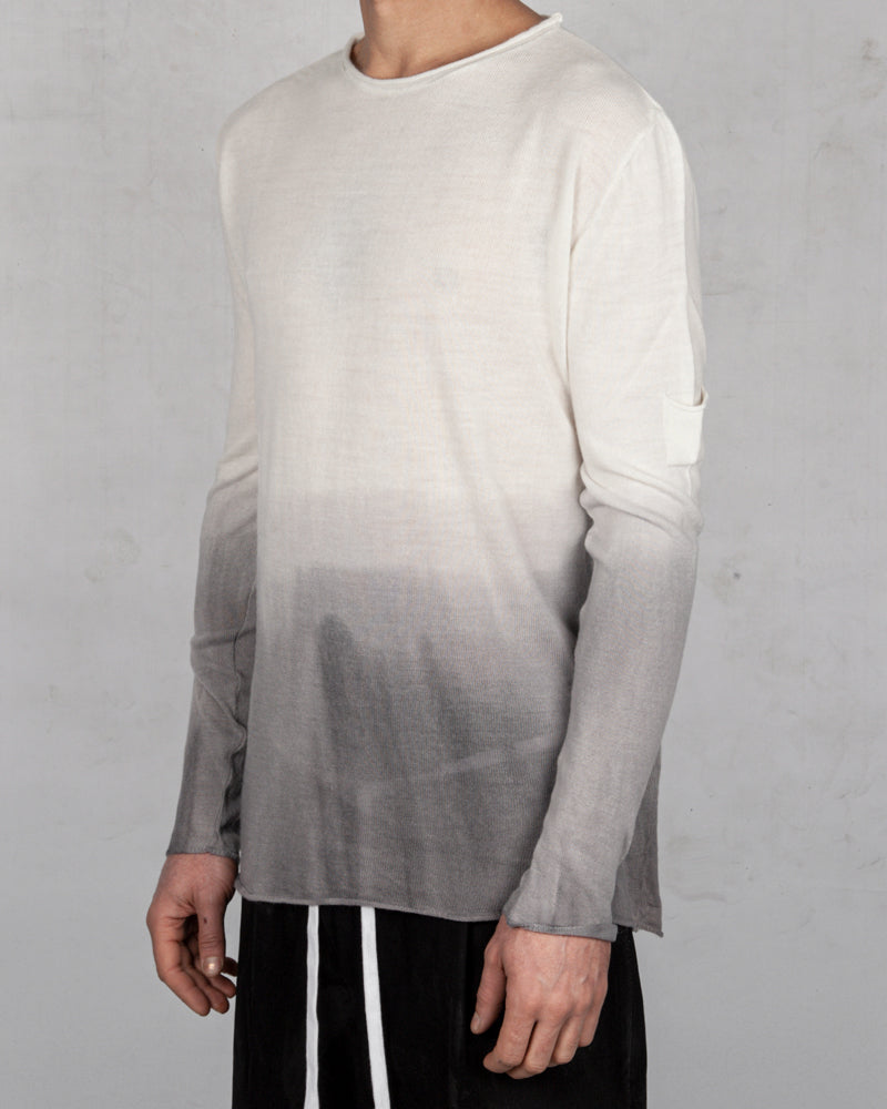 Xagon - Regular fit white ombre sweater - Stilett.com