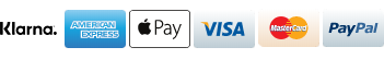 Payment options - Klarna, Armerican Express, Apple pay, Visa, Mastercard and Paypal