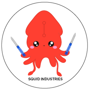 Squiddly the Kawaii Squid Sticker