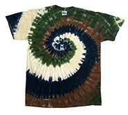 Tie-Dye Short Sleeve T-Shirt Camo  Swirl Multi Color