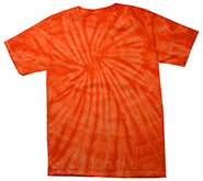 Tie-Dye Short Sleeve T-Shirt Spider Orange Single Color