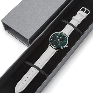 ByChalyan Quartz Watch (Silver with Indicators)