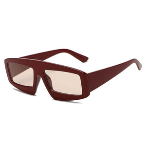 COHOES | S1077 - Women Bold Retro Vintage Rectangular Sunglasses
