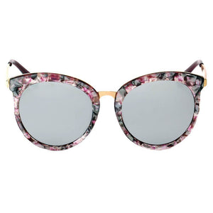 ELWOOD | CD04 - Vintage Oversized Round Mirrored Lens Horned Rim Sunglasses