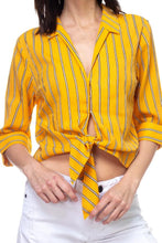 Load image into Gallery viewer, Stripe Knot Top Shirt