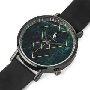 ByChalyan Black Double-Layer Quartz Watch