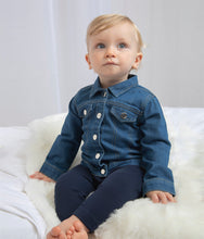 Load image into Gallery viewer, Embroidered Babybugz Denim Jacket bychalyan