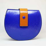 Sac demi-lune / The half-moon bag (blue)