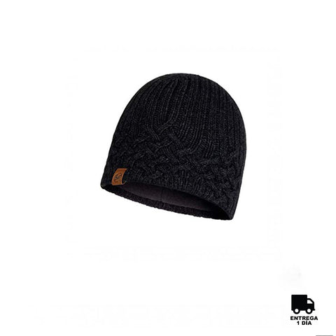 Buff Knitted and Polar Hat New Helle Graphite-