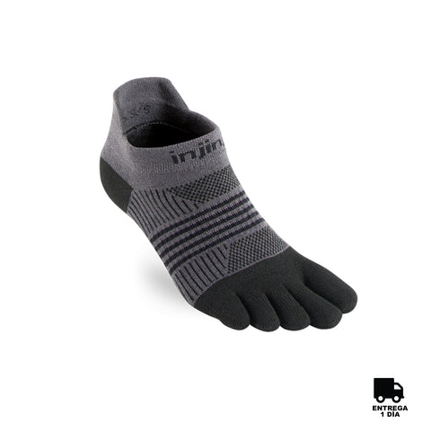 Injinji Womens Run LW NS  Coolmax WRL Black-Gray/XS-S