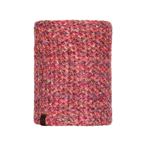 Buff Knitted and Polar Neckwarmer Margo Pink-