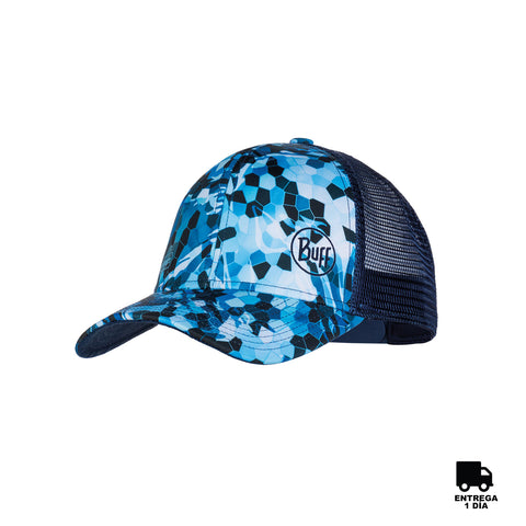 Buff Trucker Cap Mosaic Camo Blue