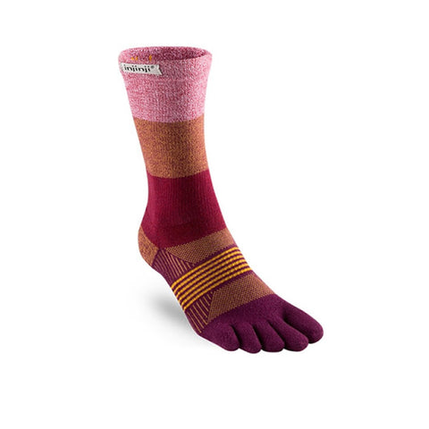 Injinji Women's Trail MW Crew Pomegranate
