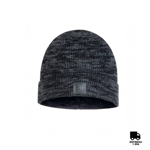Buff Knitted Hat Edik Graphite-