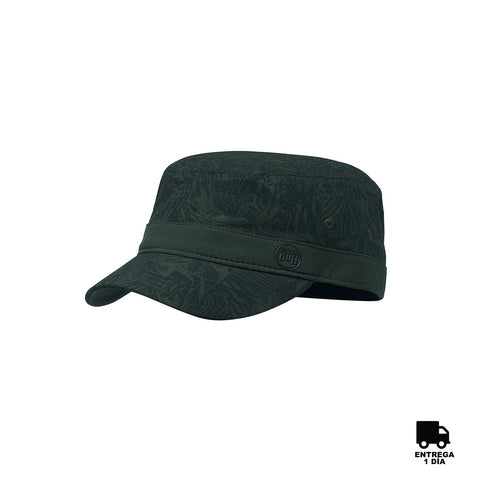 Buff Military Cap Checkboard Moss Green