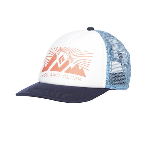 Black Diamond W Trucker Hat  White-Blue Ash