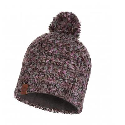 Buff Knitted and Polar Hat Margo Plum