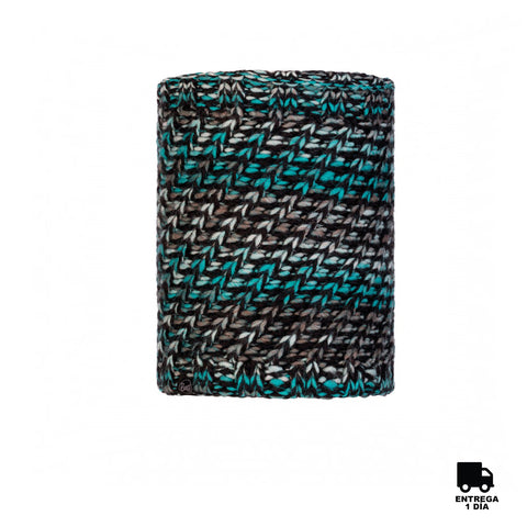 Buff Knitted and Polar Neckwarmer Valya Turquoise-