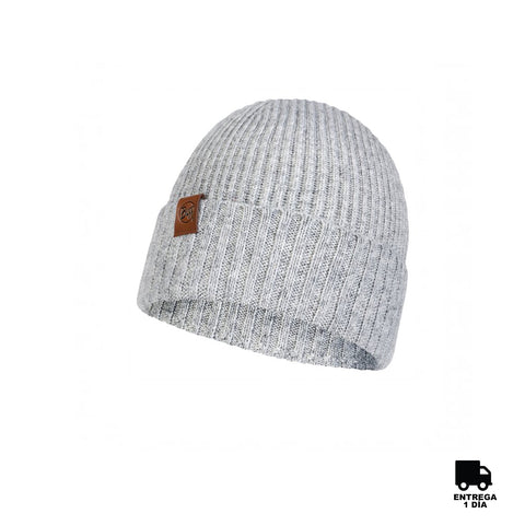 Buff Knitted Hat New Biorn Light Grey-