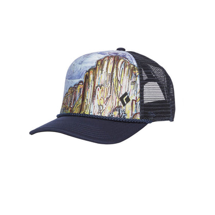 Black Diamond Flat Bill Trucker Hat El Cap.