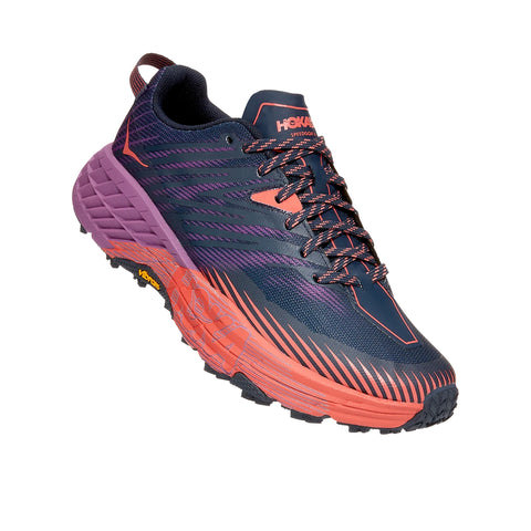 Hoka Speedgoat 4 Womens Outer Space / Hot Coral