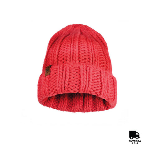 Buff Knitted Hat Vanya Blossom Red-