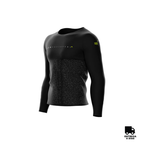 Compressport® Training T-Shirt Long Sleeve Black Edition 10-2018