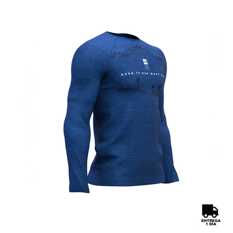 Training T-shirt LS Mont Blanc  Blue