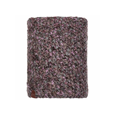 Buff Knitted and Polar Neckwarmer Margo Plum-