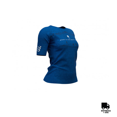 Training T-shirt SS Mont Blanc Blue Woman