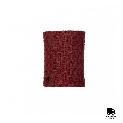 Buff Knitted and Polar Neckwarmer Airon Maroon-