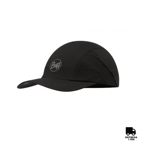 Buff Run Cap R-Solid Black