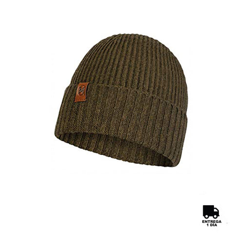 Buff Knitted Hat New Biorn Tundra Khaki-