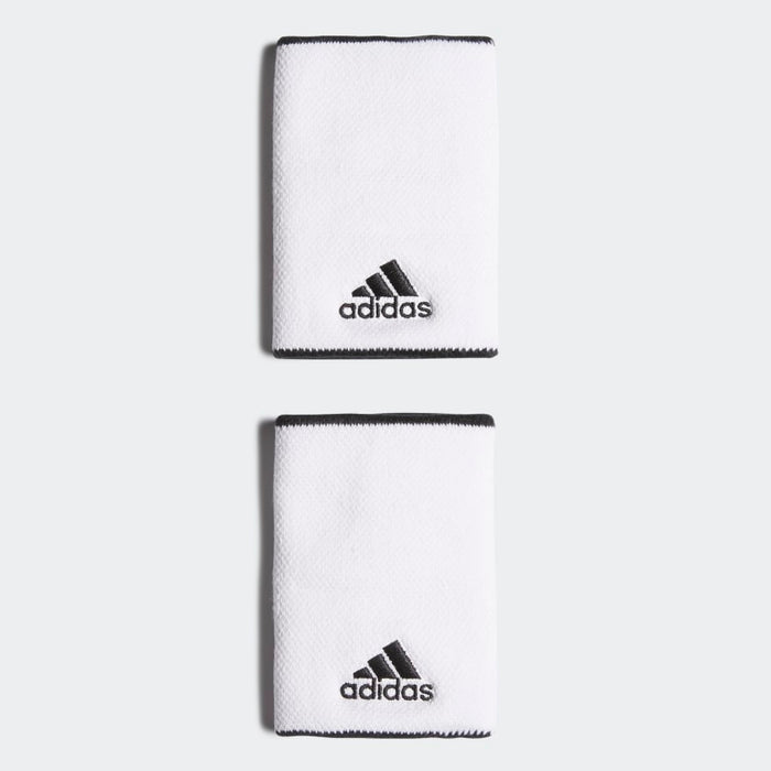 Adidas Wristband Large vit 2-pack