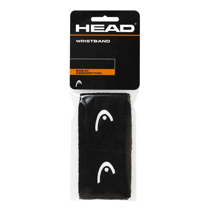 "Head Wristband 2,5"" svart 2-pack"