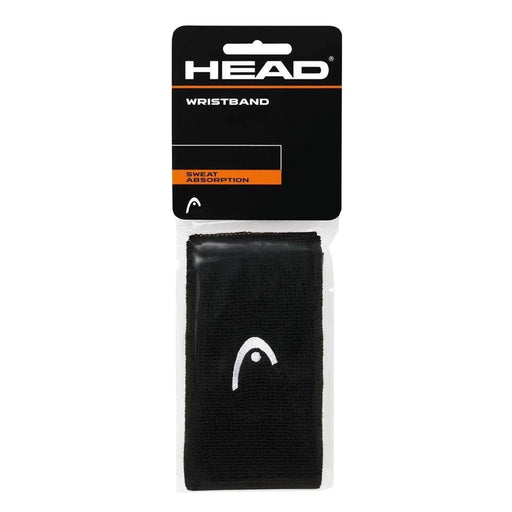 "Head Wristband 5"" svart 2-pack"