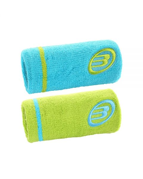Bullpadel Wristband Turkos/Grön 2-pack