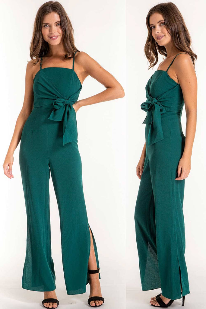 Clara Green Formal Jumpsuit for Special Events