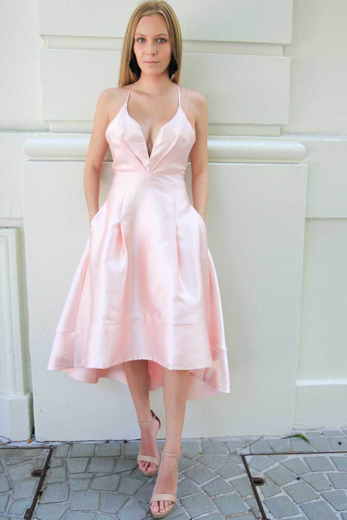 Azure Blush High Low A-Line Dress - Formal Dresses - Aurium Boutique