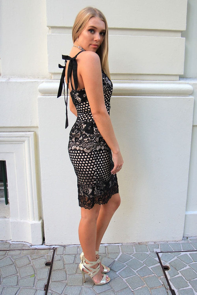Audrey Black Lace Dress - Cocktail Dresses - Aurium Boutique