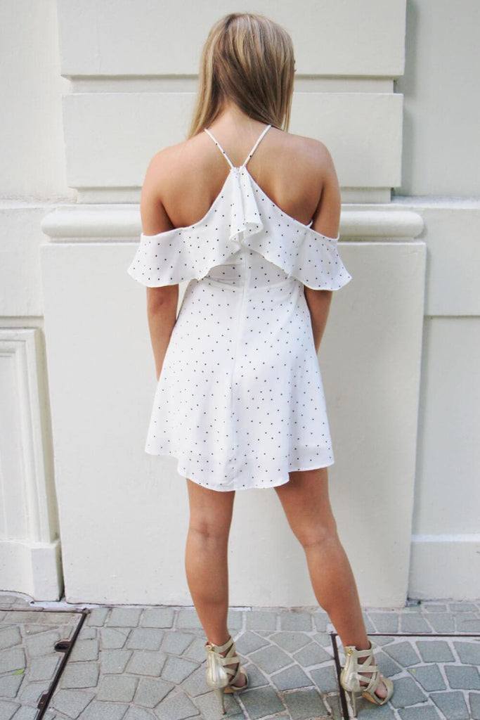 Pepper White Polka Dot Dress - Cocktail Dresses - Aurium Boutique