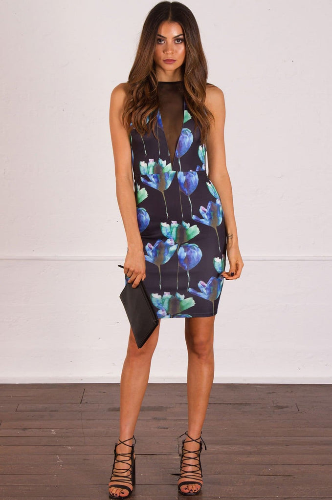 Decadence Floral Print Dress - Cocktail Dresses - Aurium Boutique