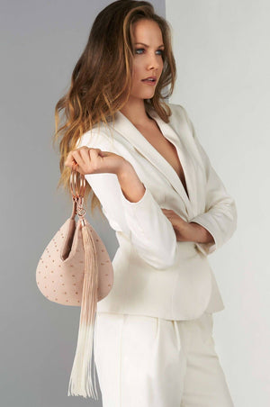 Phoebe Blush Clutch - Clutches & Bags - Aurium Boutique