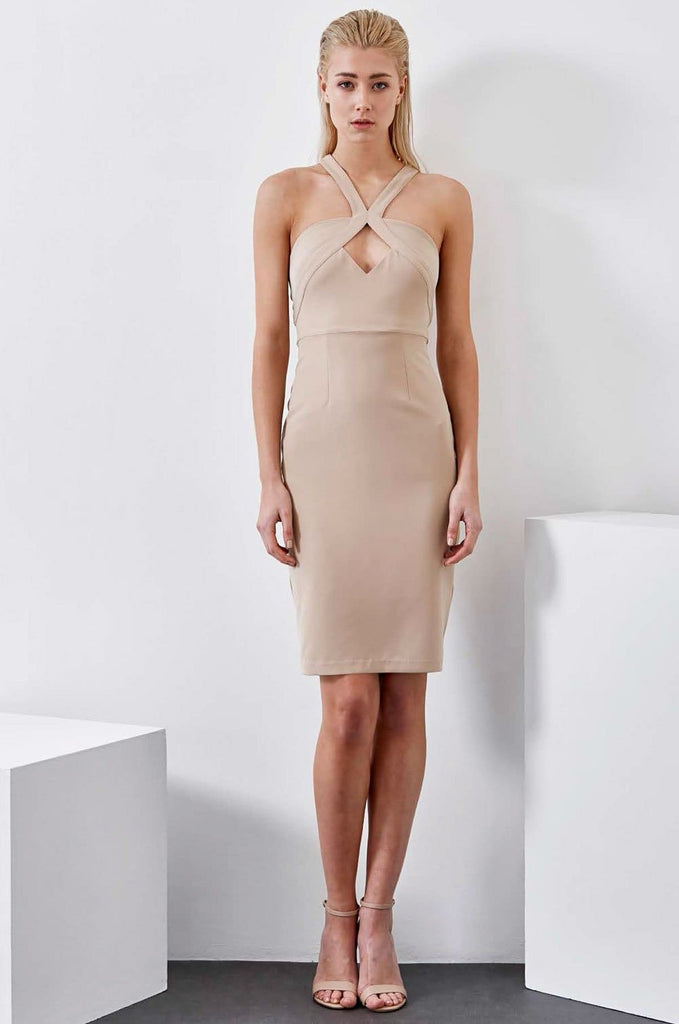 Grace Willow Cadence Nude Dress - Cocktail Dresses - Aurium Boutique