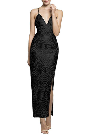 Galaxy Black Sequin Formal Dress - Formal Dresses - Aurium Boutique