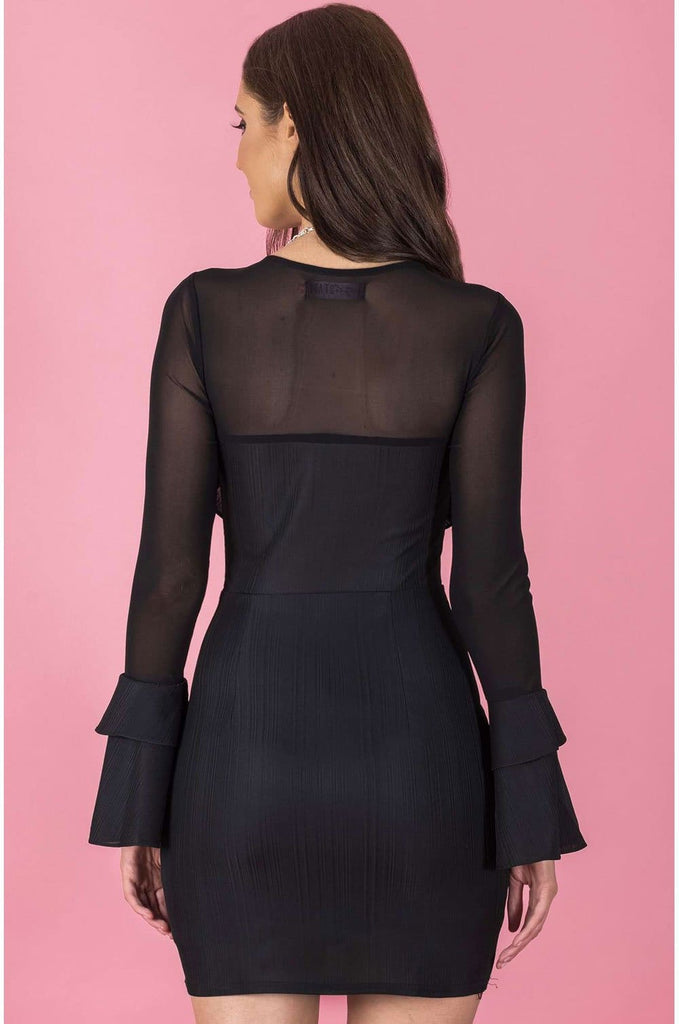 Valerie Frill Sleeved Dress - Cocktail Dresses - Aurium Boutique