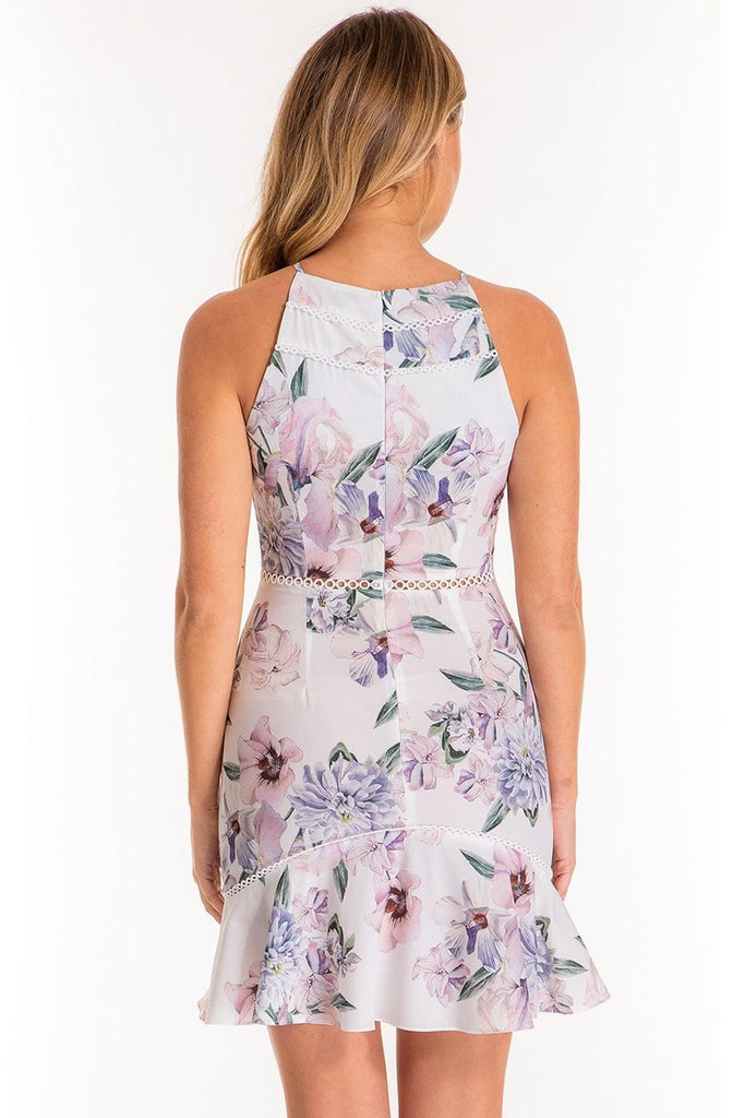 Whimsical Tales Halter Floral Dress - Cocktail Dresses - Aurium Boutique