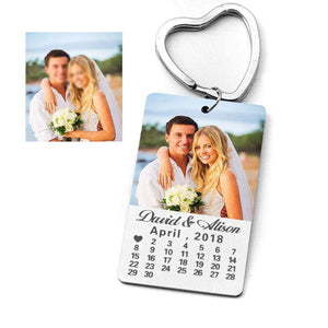 Custom Photo Calendar Keychain - NovaShop365 ™