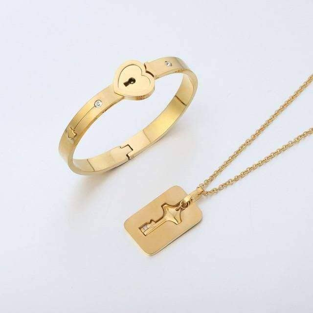 Heart Lock & Key Necklace - NovaShop365 ™